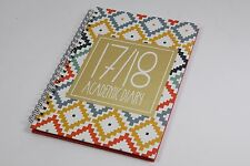 2017-2018 A5 WEEK TO VIEW 12 MONTH ACADEMIC STUDENT DIARY. TWIN WIRO & HARDBACK.