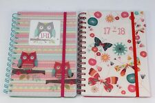 2017-2018 A5 WEEK TO VIEW OR DAY A PAGE ACADEMIC DIARY. TWIN WIRO POLYPROP COVER