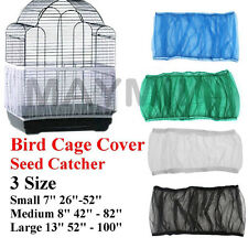 4Colors 3Sizes Seed Catcher Guard Mesh Bird Cage Cover Skirt Traps Debris @