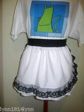 1/2 APRONS WITH LACE OVER TRIM ALL COLORS MADE TO ORDER CAN BE PERSONALISED