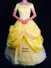 BP132 COSPLAY beauty and beast princess belle Costume tailor made kid adult GOWN