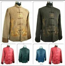 New Cute Chinese Men's Kung Fu Jacket Coat Dress Embroidery Dragon Size:M---XXXL