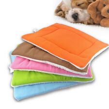 Washable Warm Soft Pet Dog Puppy Cat Kennel Cage Pad Bed Cushion Fleece Mat CMUS