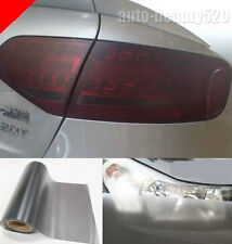 Car Matte Smoked Black Tint Film For Headlight Taillight Sheet Wrap Vinyl 16""