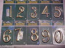 """HILLMAN Roman Style 3"""" BRASS PLATED Zinc Metal Die-Cast NEW HOUSE NUMBERS"""