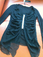 CHELSEA STUNNING 100% SILK Embellished UNEVEN TOP RRP:$239.99 Choose size NWT**