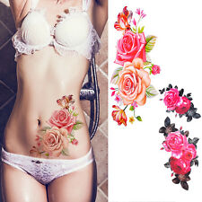 Waterproof Rose Flower Temporary Body Arm Art Removable Tattoo Stickers Decal