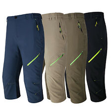 Men Waterproof Quick-Drying Cropped Sports Lightweight Hiking Breathable Pants