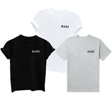 1pcs Letter Short Sleeve T-Shirt Babe Casual New Top Fashion Girl Print Women