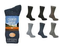 6 x Mens Ladies Country Pursuit Hiking Boot Work Cushion Foot Socks Size 4-13