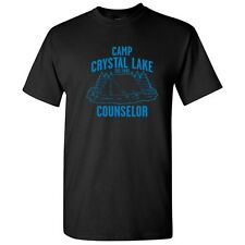 CAMP CRYSTAL LAKE - Movie Sarcastic Graphic Unisex Cool Funny Novelty T-Shirts