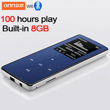 "ONN MP3 Bluetooth Music Player 8GB storage 1.8"" 60h Sports MP3 Lossless Recorder"