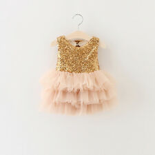 NEW Sequins Bow Tiered Sun Dress Baby Kid Child Girl Boy