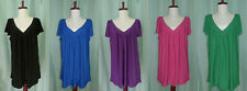 NWT Super soft Women V neck baby doll style top blouse tunic XL 2XL  5 color