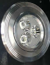 4x3w LED Recessed Ceiling Downlight Tiltable Spotlight Silver Ribbed HQ UK Stock