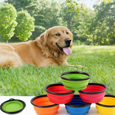 Collapsible Pet Travel Bowl Foldable Dog Compact Feeding Dish Cat Silicone Light