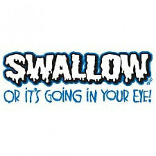 SWALLOW-Offensive Men's Graphic Gift Idea Crazy New Funny Novelty T-Shirts