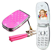 """W11 Flip Phone With Camera Bluetooth LED Light 1.44"""" Screen Luxury Cell Phone"""