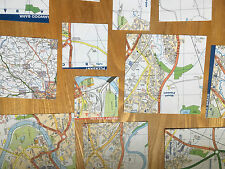 Origami paper x 60+ sheets newly Cut DOUBLE SIDED STREET MAPS DESIGN