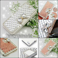 Luxury Bling Bowknot Crystal Diamond Wallet Flip Case Cover For iPhone Models