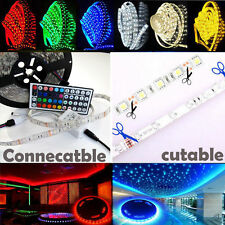 5M-50M 5050 RGB LED SMD 300 LEDS Strip Light 12V IR Controller Power Adapter Kit