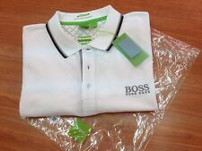 Men's Hugo Boss Green label Polo Shirt Paddy Pro-EDITION WHITE,Size-XL.