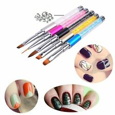 Acrylic Manicure Nail Art Brush UV Gel Pen Polish Painting Drawing