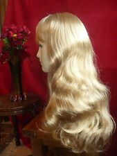 NEW Christals Long Blonde Brown Wavy Wig Looks Like Real Hair Skin Effect Scalp