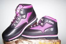 Girl's NEW Timberland Euro Hiker Black Boots with Pink Trim