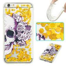 Cool Skull Glitter Sand Liquid Flow Soft Back Case Cover Skin for Various Phones