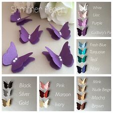 20 Shimmer Paper 3d Butterfly Wedding Table Decoration Confetti Card Toppers