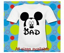 Personalized Dad Mickey Mouse T Shirt All Sizes Mickey Mouse Dad shirt with ears