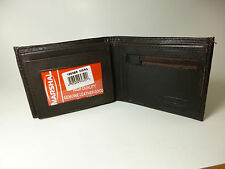 Marshal Leather Bi-fold Wallet-3+ Slots-2 ID's,Zippered Pocket-Coin Storage#1653