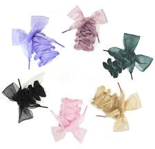 New Shoelaces Flat Silk Satin Ribbon Sport Shoes Laces Sneakers Shoestrings
