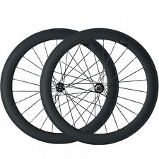 700C 60mm Clincher Carbon Wheels Road Bike Cyclocross Disc Brake Wheelset