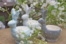 GISELA GRAHAM EASTER CERAMIC COUNTRY BUNNY EGG CUP