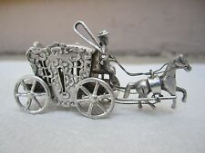 VINTAGE DUTCH STERLING SILVER MINIATURE CARRAIGE COACH