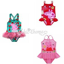 Girl Kids Cartoon Animal One Piece Swimwear Bathers Swimmers Swimsuit Bikini Set