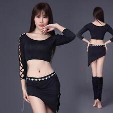 New arrival sexy Women Belly Dance Costumes Club Stage 2pcs Top Skirt