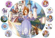7 inch Sofia The First Cake and 10 cup cake topper on Edible Rice Paper