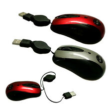 Mini Retractable USB Optical Scroll Wheel Mouse Mice for PC Laptop Notebook Gift
