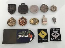 Lot of 11 Israeli Security Forces Pins, 2 Patches, Unit Tag, 2 Ranks & Wings