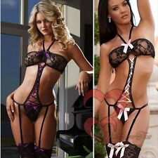 NEW STRAP SEXY LINGERIE LEOTARD BODYSUIT LACE HOT TEDDY NIGHT/UNDERWEAR BABYDOLL
