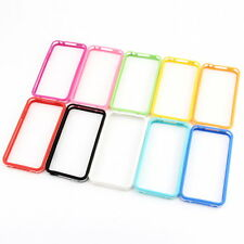 TPU Silicone Frame Bumper Hard Case Cover Skin for iPhone 4G 4S F7