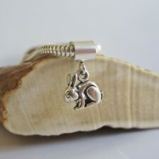 Rabbit Mini Sterling Silver European-Style Charm and Bracelet- Free Shipping