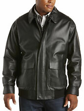 Synrgy Leather Bomber Casual Male XL Big & Tall