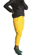 NEW ONE TEASPOON LEATHER PANTS XS M 2 4 6 8 10 $460 WOMEN YELLOW HIGH WAISTED