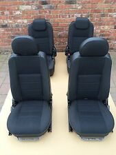 LAND ROVER DEFENDER 90 FRONT AND REAR SEATS HEATED TDCI BLACK CLOTH GENUINE NEW
