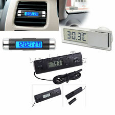 New LED Digital Auto Car In-Outdoor Thermometer W/Sensor Temperature LCD Display
