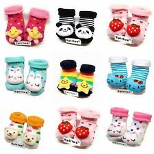 Baby Boys Girls Cotton socks Booties Indoor Shoes Slippers animal cartoon gift l